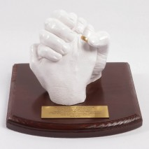 Uścisk dłoni zakochanych - odlew 3D