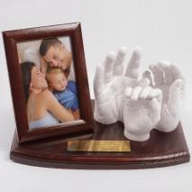 Zestaw do odlewu gipsowego 3D dla: Rodzina /1 dziecko.
