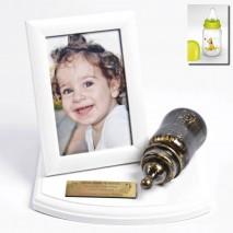 Metalizacja Twojej butelki z podstawką i ramką na zdjęcie.