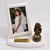 Metalizowana pamiątka na Komunię Św. dla Dziewczynki