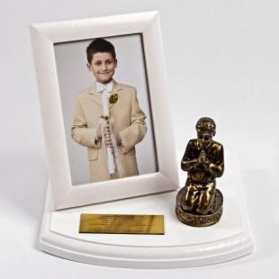Metalizowana pamiątka na Komunię Św. dla Chłopca