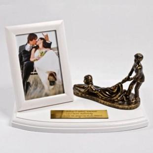 Metalizowana pamiątka na ślub.