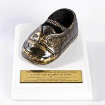 Metalizowany bucik pantofelek z Twoją dedykacją.