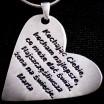Srebrne duże serce z odbitą Twoją osobistą dedykacją, napisem.