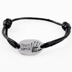 Biżuteria męska z odciskiem dłoni lub stopy w czystym srebrze 999