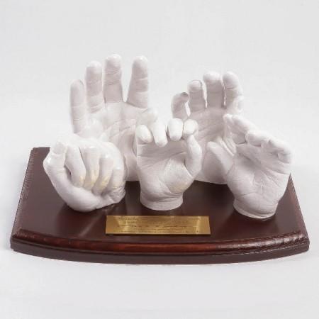 Ogromny Odlew dłoni wnuka pięknym prezentem dla babci i dziadka. QI51